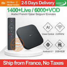 IPTV France Arabic IPTV Android 8.1 Xiaomi MI Box S 2G+8G BT Dual-Band WIFI Netherlands Belgium IP TV 1 Year IPTV France Arabic