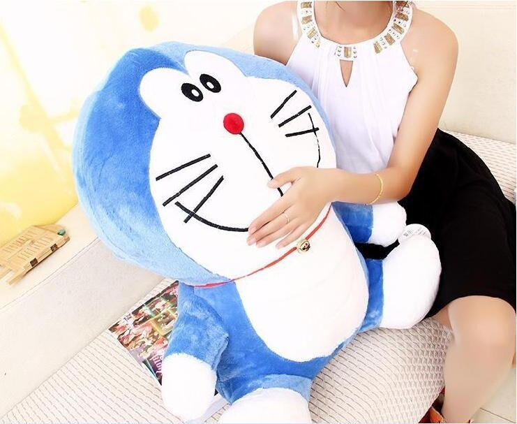 ФОТО big lovely blue plush doraemon toy creative smile doraemon doll cartoon doll gift doll about 70cm