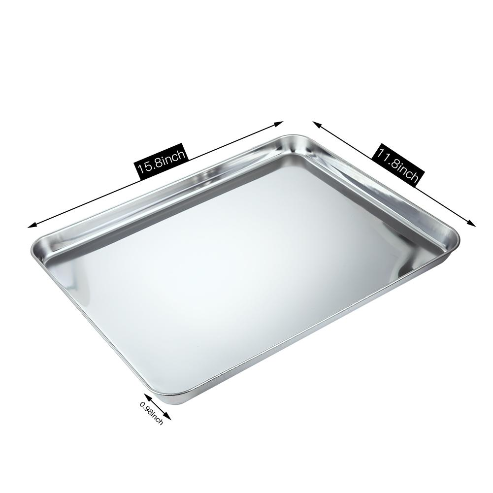 Lumiparty square pan bakeware oven sheet stainless steel for Stainless steel sheets for kitchens