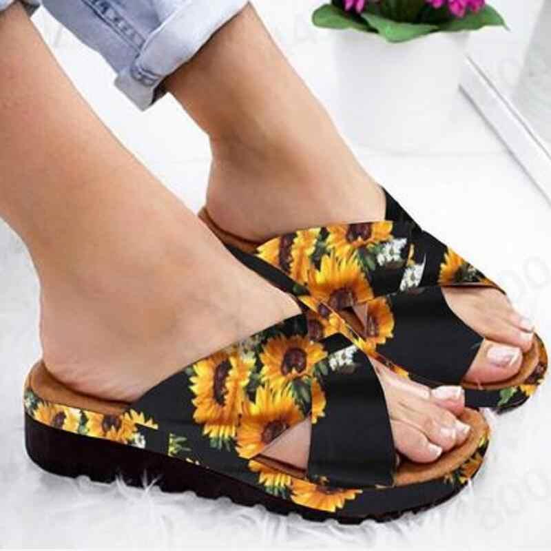 Zomer Schoenen Vrouwen Wiggen Sandalen Vrouwelijke Zomer Slippers Casual Gladiator Platform Sandalen Nieuwe Slippers Chaussure Femme 2019