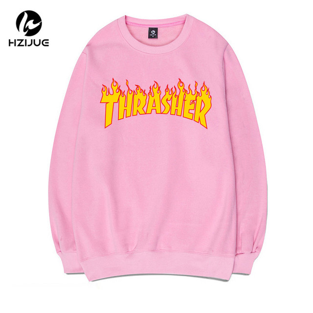 5 Colors Thrasher Hoodie Men Women Soft Fleece Warm Thrasher Sweatshirts 2017 Hip hop Streetwear Harajuku Famous Brand Pullover