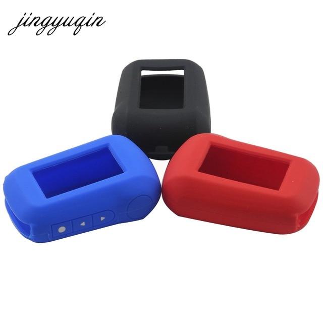 Jingyuqin A92 coque en Silicone pour Starline A95 A94 V62 A62 A64 LCD télécommande système dalarme de voiture bidirectionnelle couvercle de clé en Silicone