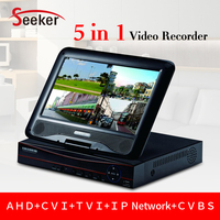H 264 Home Security 8channel Digital Recorder 1080P 10 1 Inch LCD AHD DVR 8ch With