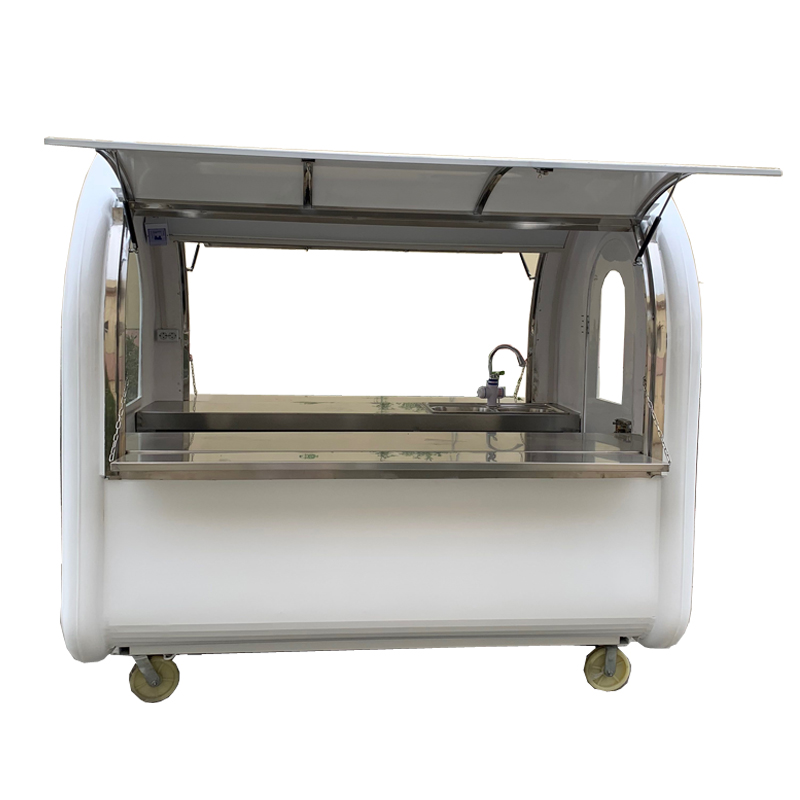 KN-220E mobile food carts/trailer/ ice cream truck/snack food carts factory price with free shipping by sea
