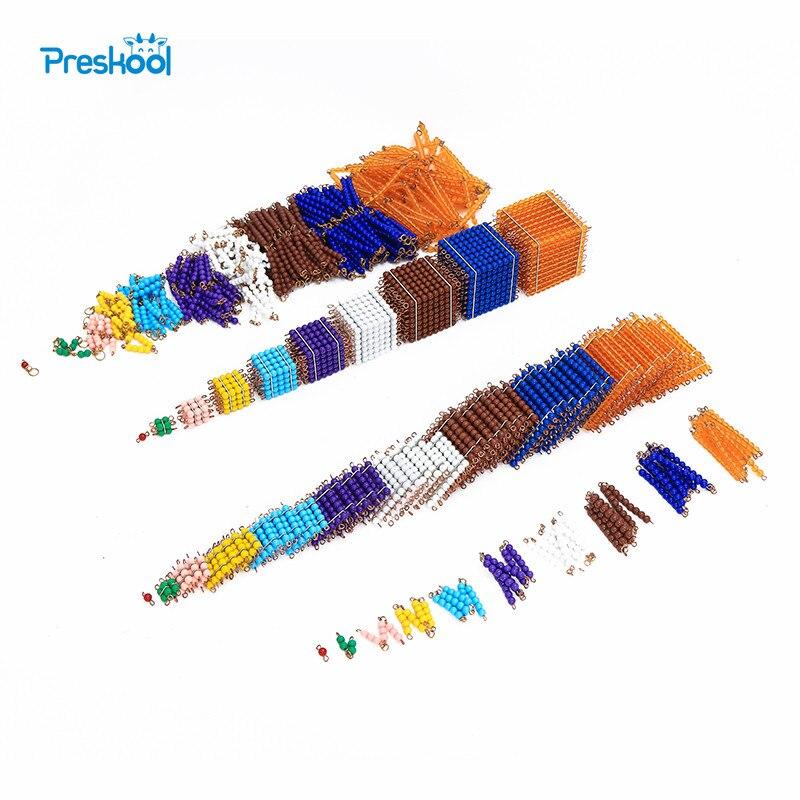 Montessori juguete de bebé conjunto de cuentas de materiales preescolar Brinquedos Juguets
