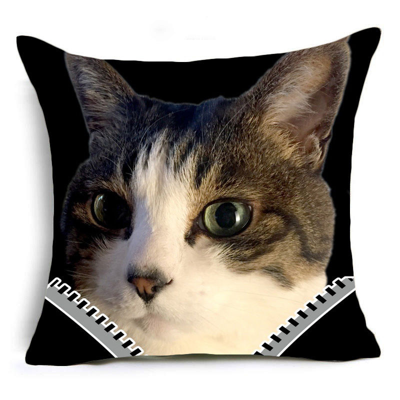 Cute Cat Design Square Pillowcase