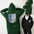 2017 Attack on Titan Hoodies Sweatshirts Coat Japan Anime Halloween Party Eren Levi Hoodies Cosplay Costume Legion Clothing