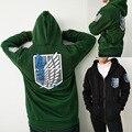 2017 ataque em titan hoodies moletons casaco japão anime halloween party roupas hoodies traje cosplay legião eren levi