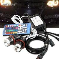 E39 RGB LED Angel Eyes LED Marker fog light head lamp kit For BMW E39/E87/E63/E64/E53/E65/E66/E60/E61 free shipping