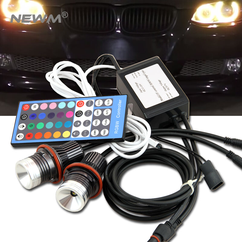 E39 RGB LED Angel Eyes LED Marker fog light head lamp kit For BMW E39/E87/E63/E64/E53/E65/E66/E60/E61 free shipping free sgipping latest new 12v 20w led marker car angel eyes bulb for bmw e39 e53 e61 e64 e65 e66 e87 led headlight bulbs