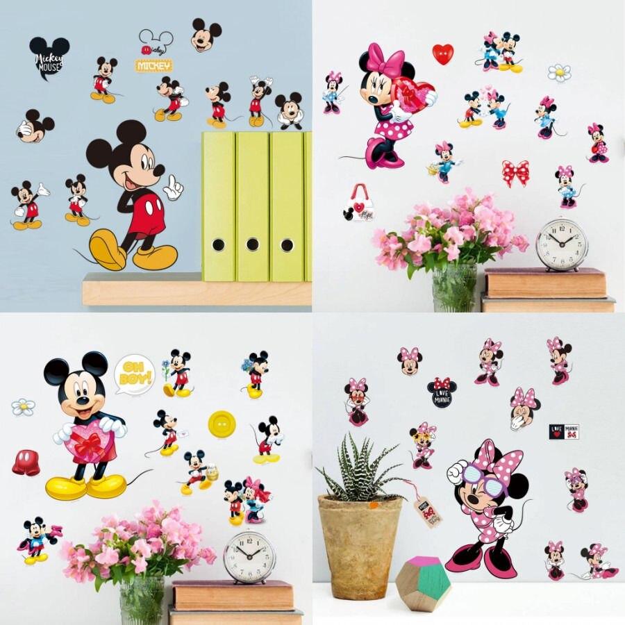 Hot Sale Mickey Mouse Minnie Mouse Kamar Mandi Dekorasi Kartun Lucu