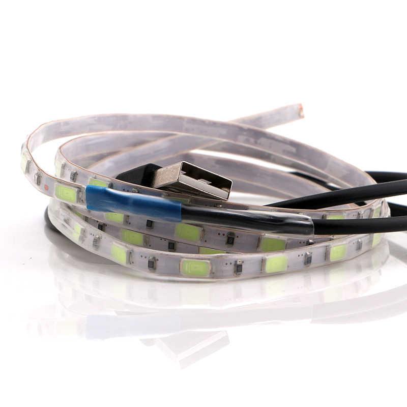 YM E-Bright Car Atmosphere Lights 90CM 5050 60 SMD IP65 5V LED Strip Decorate Lamps Multi-Color Mini RGB Controller USB