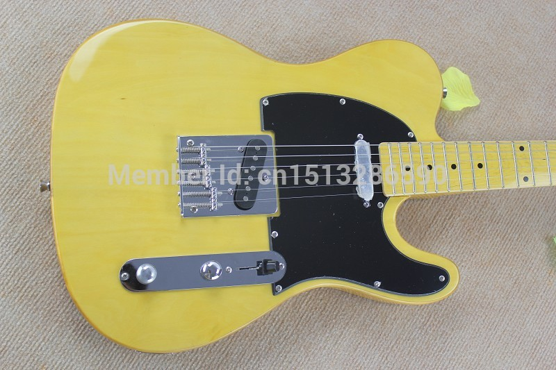 . Free shipping wholesale High Quality F TL Ameican Art signature TL yellow Electric <font><b>guitar</b></font> image