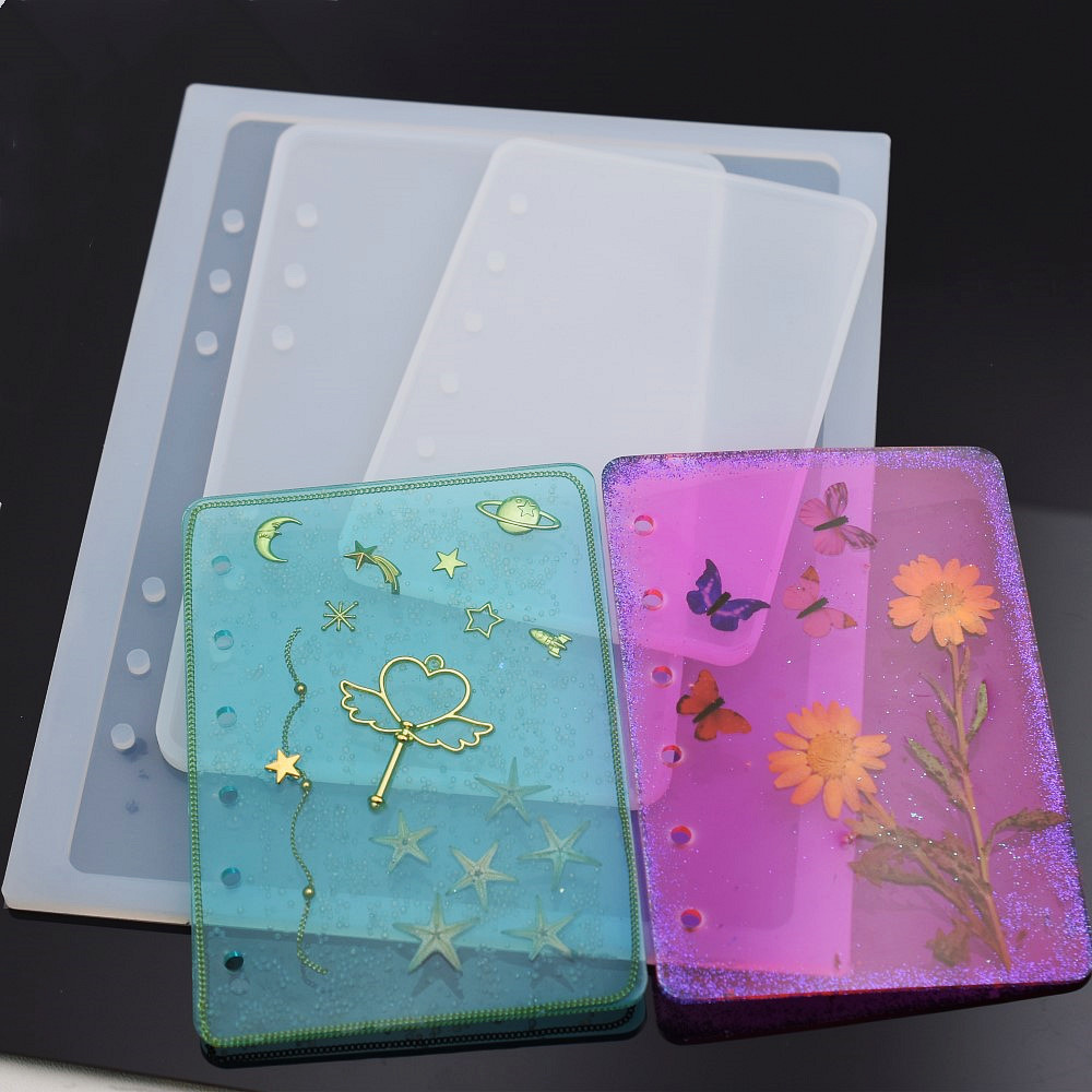 SNASAN Notebook Cover Silicone Mold For Jewelry Resin Silicone Mould Handmade DIY Epoxy Resin Molds