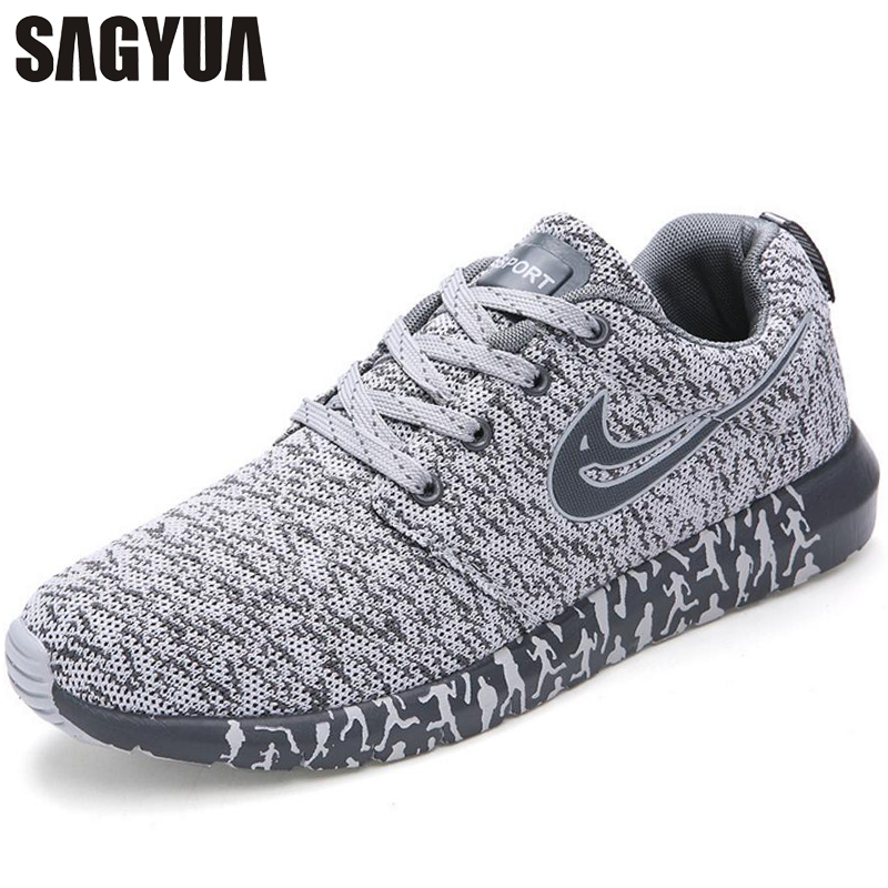 SAGYUA Youth Summer Men Male Casual Hombre Mesh Air Knitting Lightweight Outwear Flats Breathable Walking Zapatillas Shoes T212