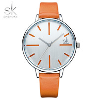 SK New Fashion Brand Leather Strap Quartz Women Watches Ladies Dress Mixmatch Watch Female Casual Gold