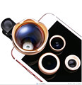4 in 1 Schott Glas Fisheye Lenses Wide Angle Macro 3X Telephoto Lens For Nokia Lumia 1020 630 640 HTC 10 eye ZTE Mobile Clips