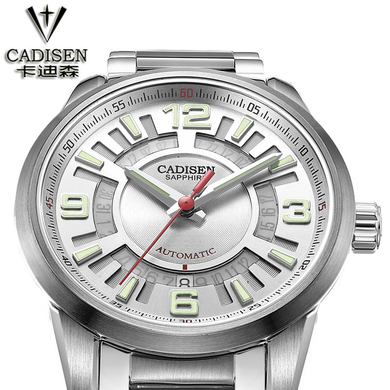 Original CADISEN Men Mechanical Watches Men Luxury Brand Full Steel Waterproof Business Automatic Wristwatches For Men очиститель frau schmidt д стиральных и посудомоечных машин6