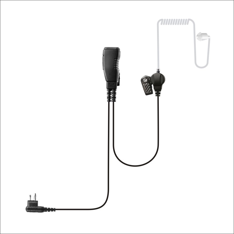 Noise isolating two way radio earpiece Super Clear Tube