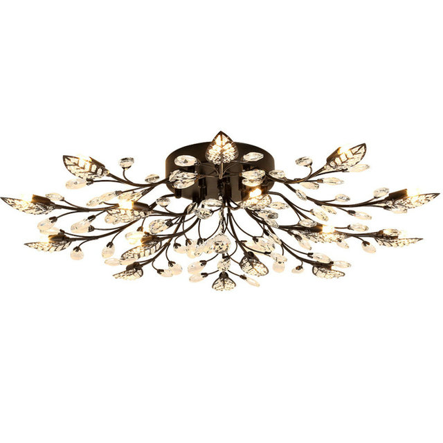 Chandelier lighting modern rustic chandelier black wrought iron chandelier lighting modern rustic chandelier black wrought iron chandeliers k9 crystal led lamp g9 led light aloadofball Images