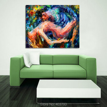 Lovers nude Sexy wall art Hand-painted oil painting Nude women abstract pictures on canvas christmas gifts home decor