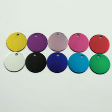 Set Aluminum Round ID Tags for Cat