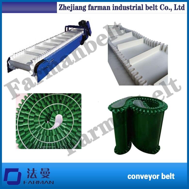 corrugated sidewall skirt rim pvc conveyor belt недорго, оригинальная цена
