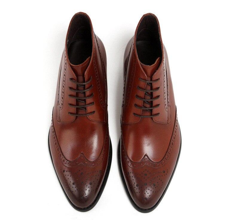 D'affaires Véritable Brouge 2 Hommes Bottes Qualité De Travail Sculpture Chaussures Cuir Mens Fashoin Bottines Chelsae Robe Oxford 1 Décontracté PkiXZwuOTl
