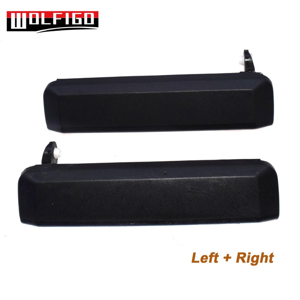 WOLFIGO 1PC / 2PCS Outside Outer Black Front Left Right Door Handles For NISSAN PATHFINDER 1987-1995 80607-01A10, 80606-01A10