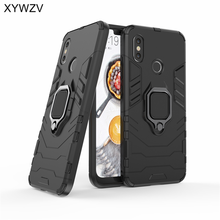 Mi8 Armor Case Xiaomi Mi 8 Phone Cover Metal Finger Ring Holder For Magnetic Fundas