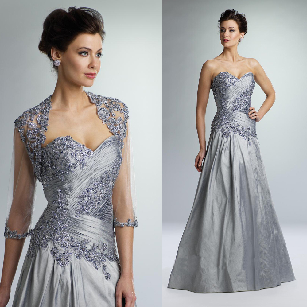 Elegant wedding pant suits - Elegant Vestido Mae Da Noiva Silver Lace Mother Of The Bride Dresses Gowns With Jacket Beads Pant Suits For Wedding Guests M1663