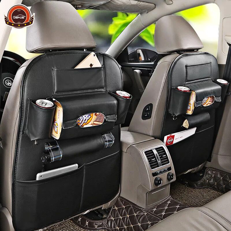 Meilleur siège De Voiture En Cuir sac de rangement Multifonctionnel boîte de rangement de voiture siège arrière sac creative voiture accessoires boîte propre Imperméable À L'eau