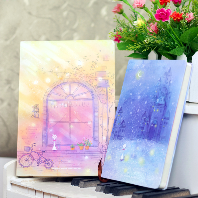 2 illust aesthetic color page notebook stationery birthday