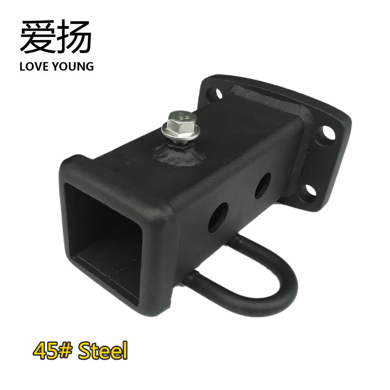 Trailer hook kits with 2 tow ball trailer arm square tube hitch receiver trailer lock & bolt Square Base Connector Converter