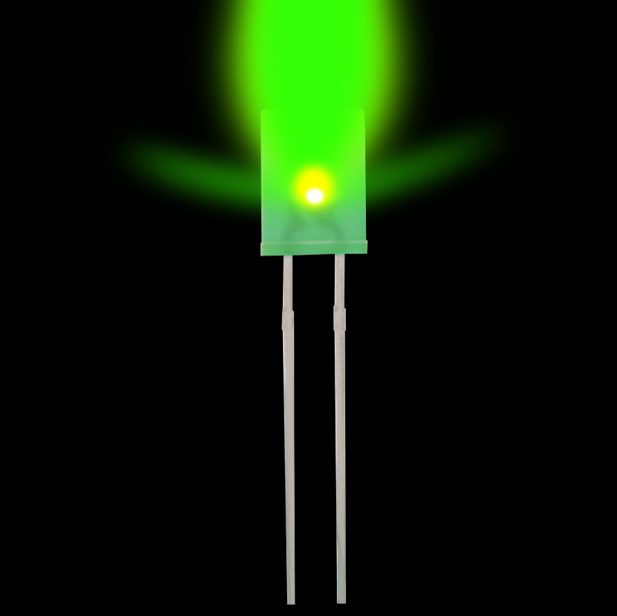 2*5*7 Square Green Turn Green LED Light Emitting Diodes Highlight Long Legs 100 PCS/ 1 Lot