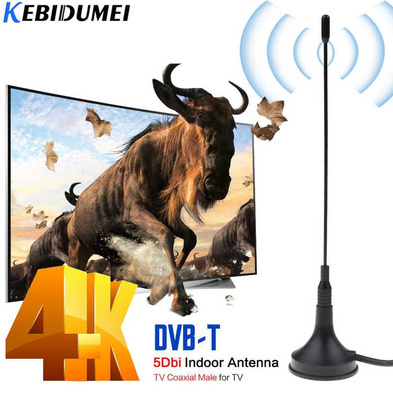 Kebidumei Dvb-t Tv Antenne Freeview Hdtv 30DB Indoor Digitale Antenne Antenne Booster Voor Dvb-t Antena Tv Hdtv Box Kabel