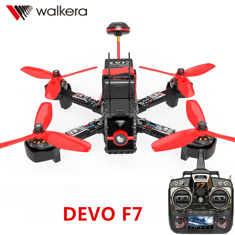 Walkera Furious 215 with DEVO F7 Transmitter FPV RC Racing Drone Quadcopter  with 600TVL Camera and F3 Flight Control RTF with two batteries yuneec q500 4k camera with st10 10ch 5 8g transmitter fpv quadcopter drone handheld gimbal case