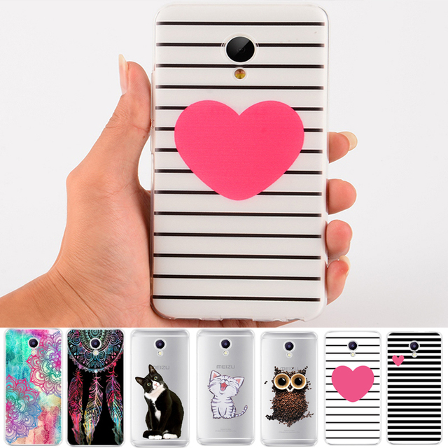 Pattern TPU Case For Meizu M5C M5 Note M5S M2 Mini M3S M3 Max U10 U20 MX6 Pro 6 7 Plus Rose Cats Painted Silicone Phone Cases