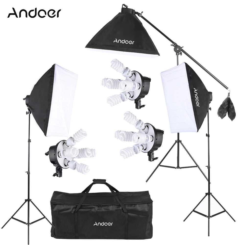Optex Photo Studio Lighting Kit Review: Andoer Studio Photo Video Softbox Lighting Kit Photo