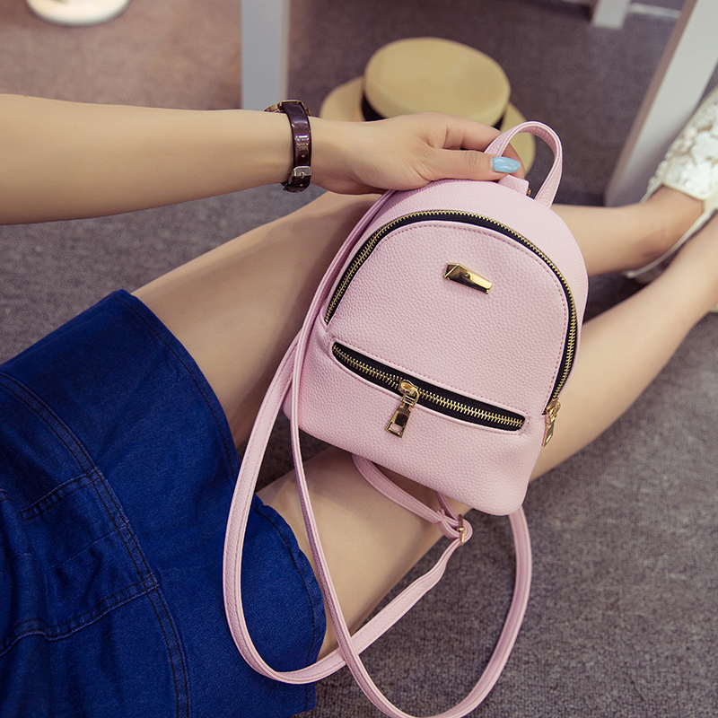 Fashion Women Backpack 2017 Pu Leather Women Backpack College Wind Small Fresh Sweet Girl High Quality Travel Mini Rucksack