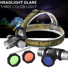 High Quality    3 Lampshade CREE XM-L XML Q LED Headlamp Headlight flashlight head light lamp