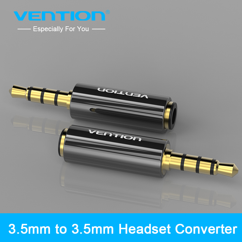 Vention <font><b>4</b></font> pole <font><b>3.5mm</b></font> to <font><b>3.5mm</b></font> <font><b>RCA</b></font> Audio Gold-Plated headphone plug Connectors <font><b>jack</b></font> adapter plug <font><b>jack</b></font> Stereo Headset image
