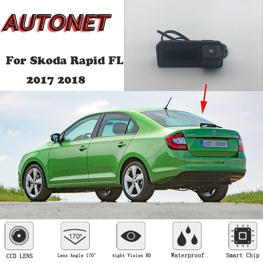 AUTONET Rear View camera For Skoda Rapid FL 2017 2018/Original Factory Style/Instead of Original Factory Trunk Handle Camera