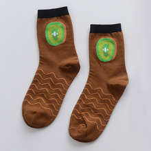 4 Pairs Fruits Patterns Cotton Socks