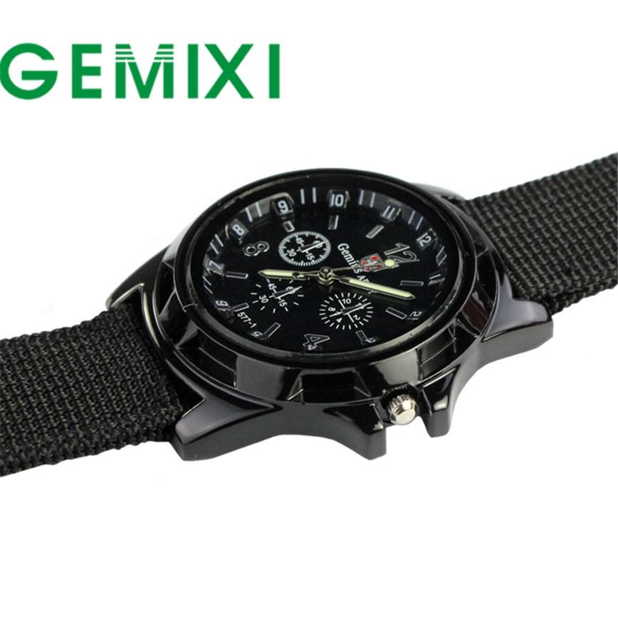 все цены на Fantastic 2016 Outdoor Army Style Fashion Sport Watches Gemius Racing Force Military Men Fabric Band Watch relogio masculino онлайн