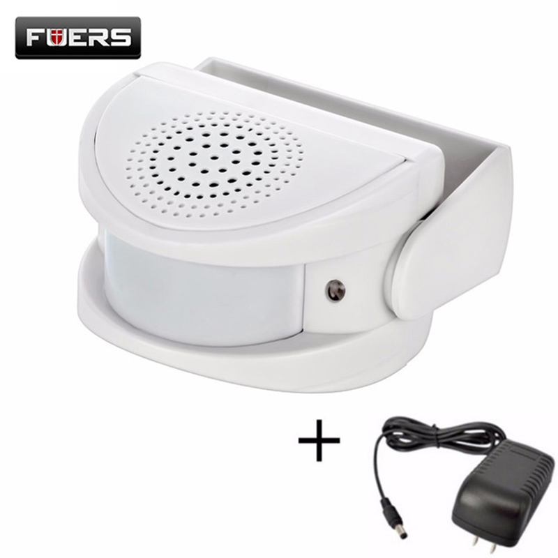 Fuers Wireless Smart Doorbell Welcome Chime Alarm PIR Motion Sensor Entry Security Doorbell Infrared Detector For Shop HotelFuers Wireless Smart Doorbell Welcome Chime Alarm PIR Motion Sensor Entry Security Doorbell Infrared Detector For Shop Hotel