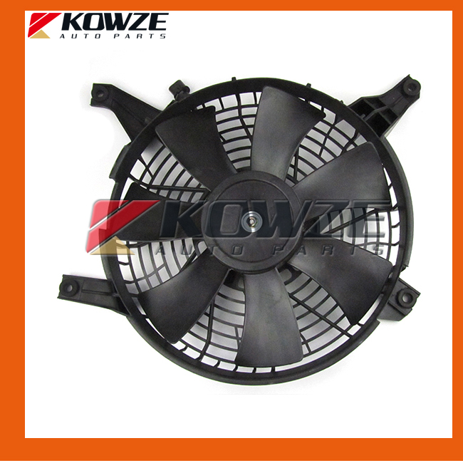 Otomobiller ve Motosikletler'ten Fanlar ve Kitleri'de Klima yoğuşturucu Fan motoru ve kefen Mitsubishi Pajero Montero için 3 4 III IV 2000 2015 MR500911 title=