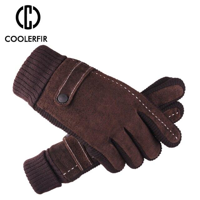 Зимние перчатки мужские из натуральной кожи 2