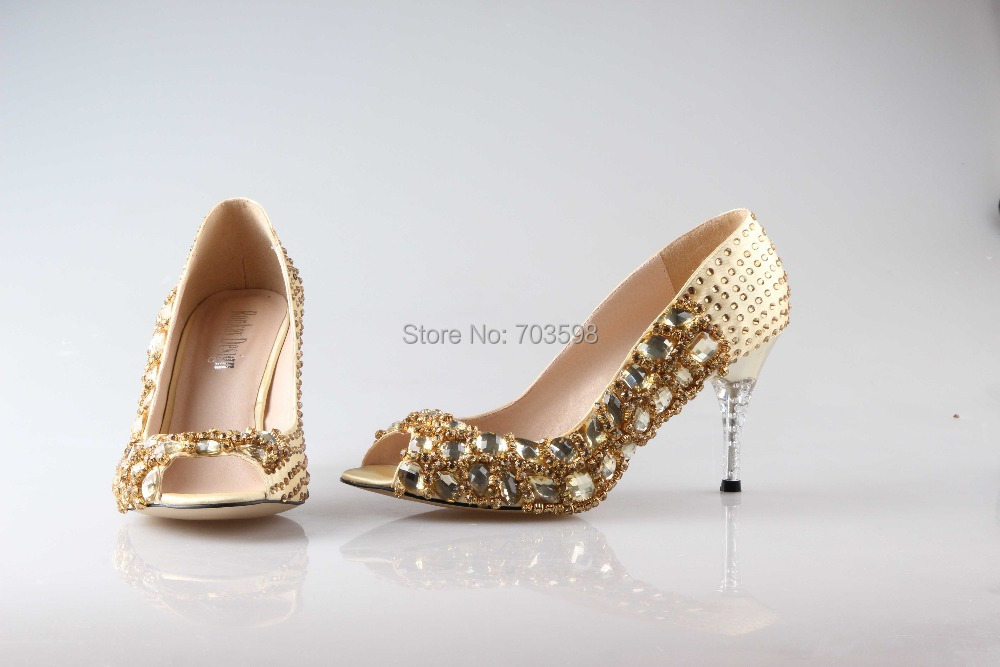 Collection Evening Shoes Gold Pictures - Weddings Pro