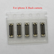 10pcs/lot Original new rear back main camera FPC connector for iPhone X on motherboard logic board mainboard 98% new good working high quality original for board tw10794v 0 x3562tp xf lk315t3lz54 screen t con logic board